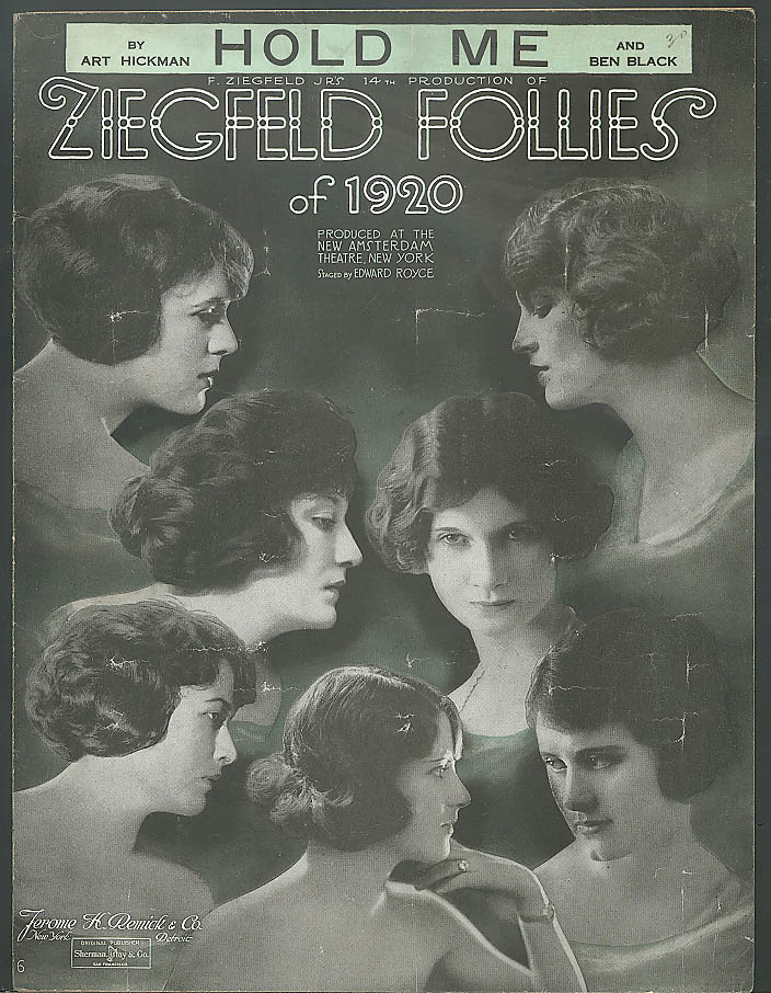 Hold Me sheet music Ziegfeld Follies of 1920