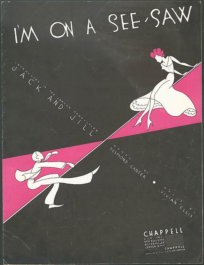 I'm On a See-Saw sheet music Carter & Ellis 1934