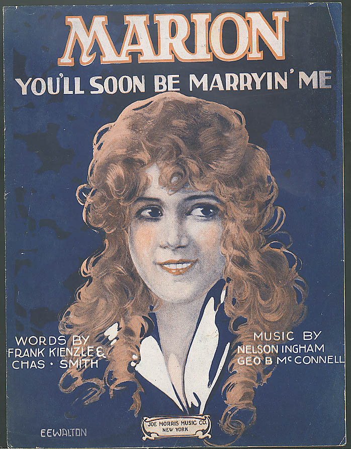 Marion You'll Soon Be Marryin' Me sheet music 1920