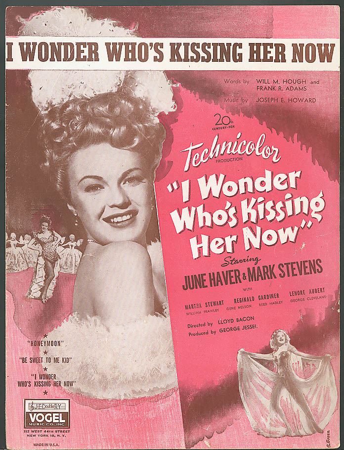 Image for I Wonder Who's Kissing Her Now movie sheet music 1936
