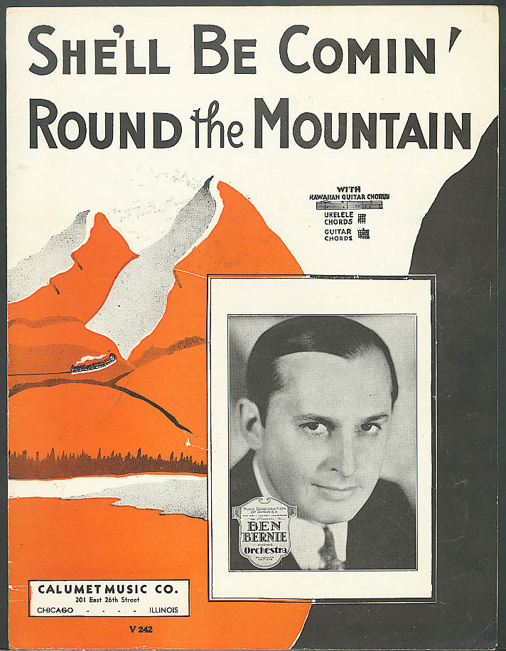 She'll Be Comin' Round the Mountain sheet music 1935