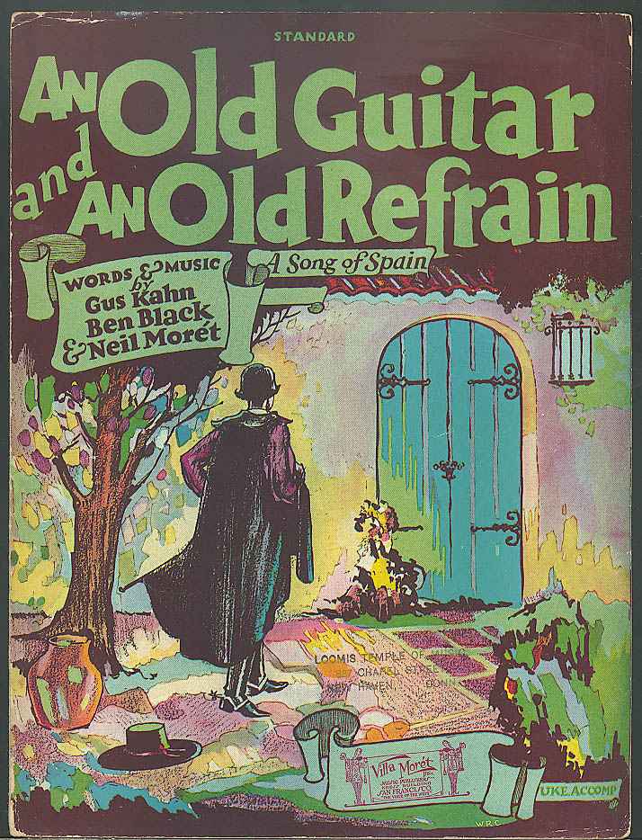 An Old Guitar & An Old Refrain sheet music 1927