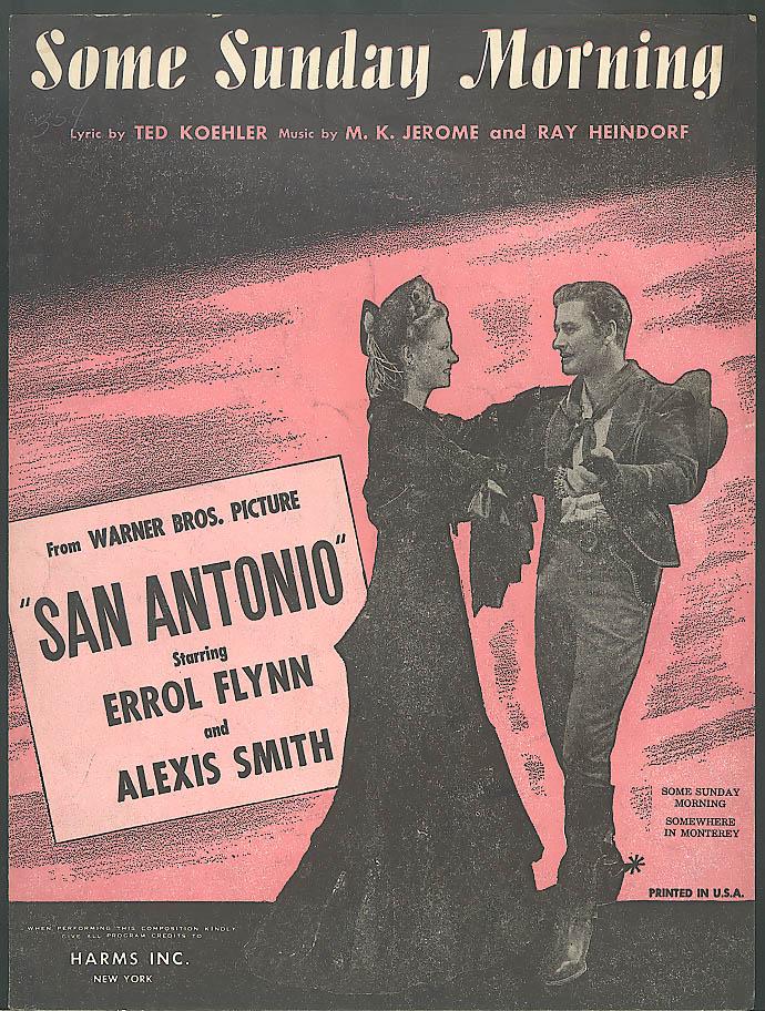 Some Sunday Morning movie sheet music Errol Flynn 1945