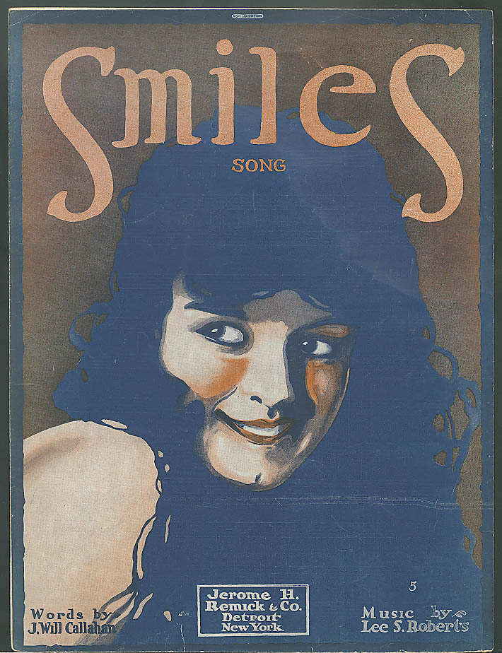 Smiles pretty girl sheet music Callahan & Roberts 1917