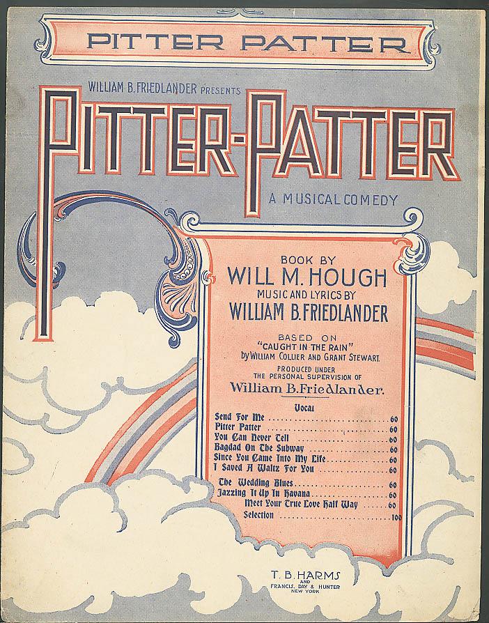 Pitter Patter sheet music Hough & Friedlander 1920