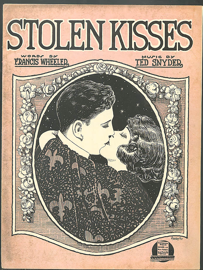 Stolen Kisses sheet music Wheeler & Snyder 1921