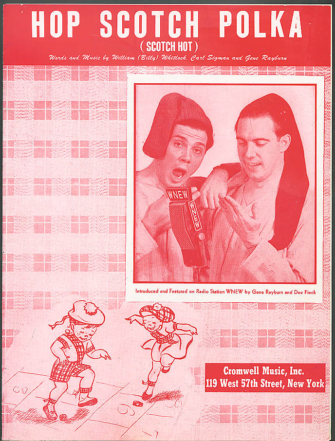 Hop Scotch Polka sheet music Gene Rayburn 1949