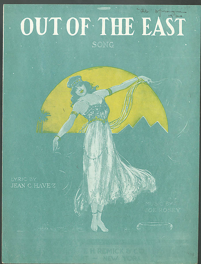 Out Of The Past sheet music Havez & Rosey 1918