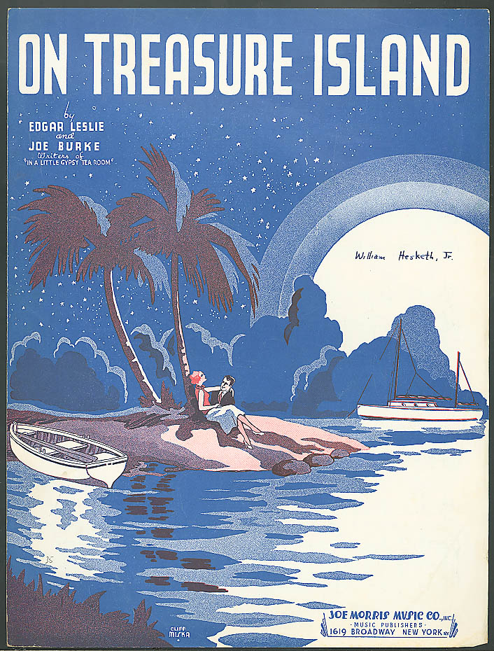 On Treasure Island sheet music Leslie & Burke 1935