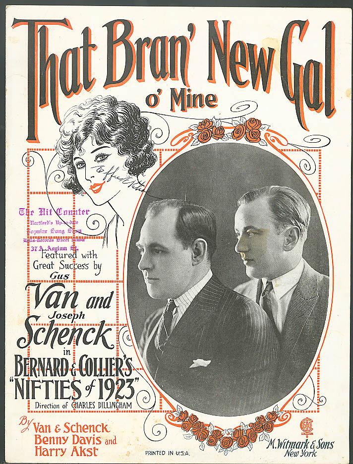 That Bran' New Gal O' Mine sheet music 1923