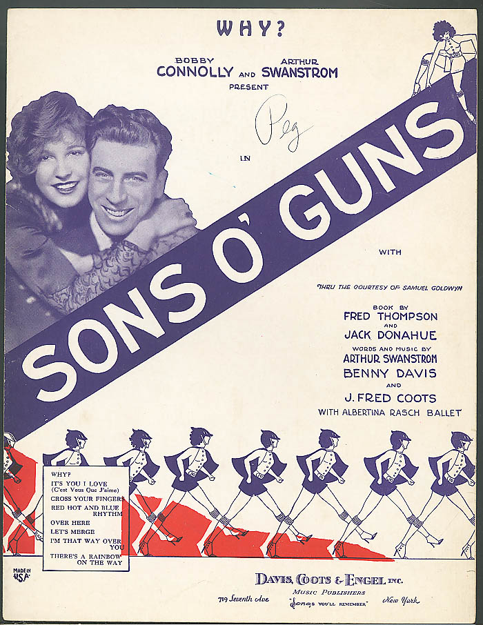 Why? sheet music Sons O' Guns 1929