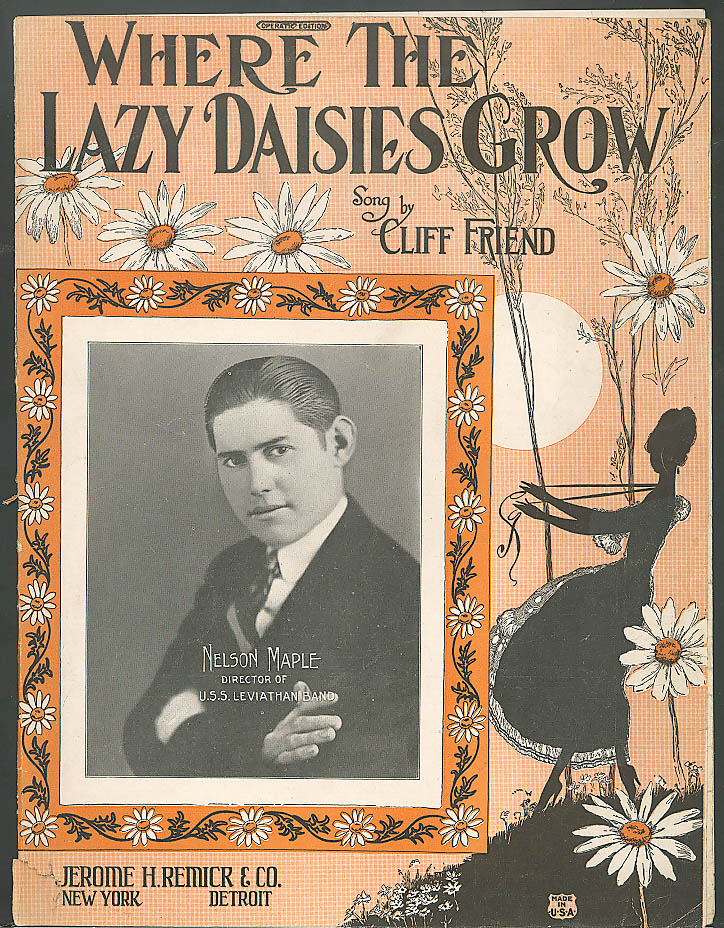 Where the Lazy Daisies Grow sheet music 1924