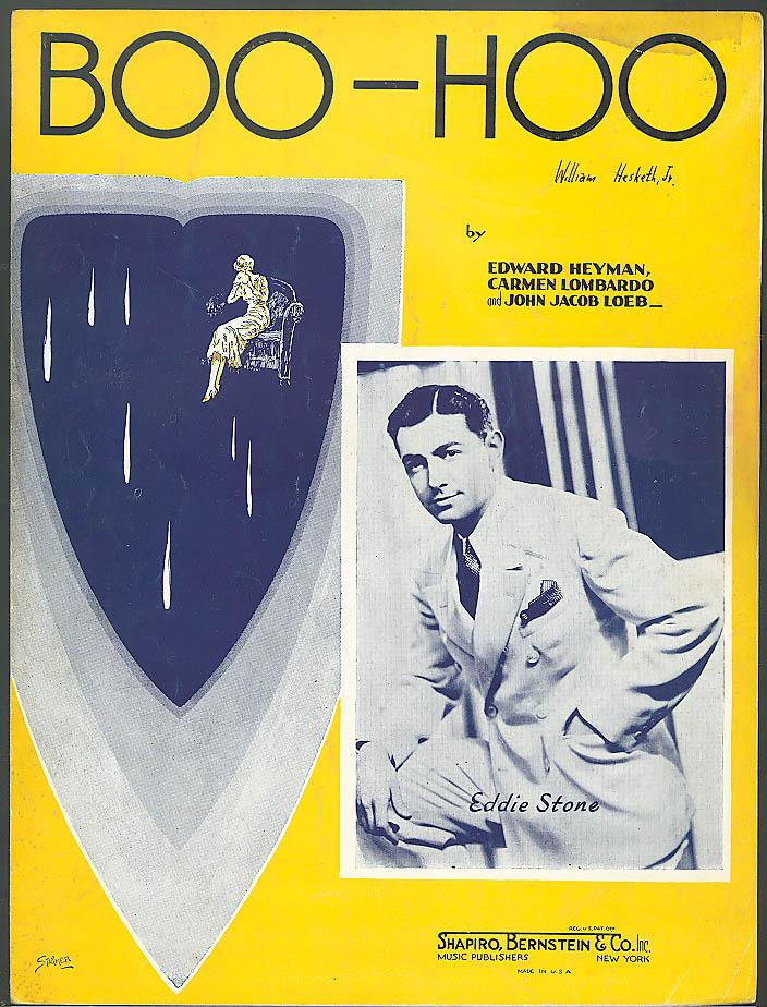 Boo-Hoo sheet music Heyman Lombardo & Stone 1937