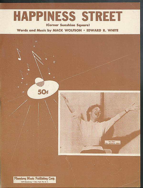Happiness Street sheet music Wolfson & White 1955 Georgia Gibbs