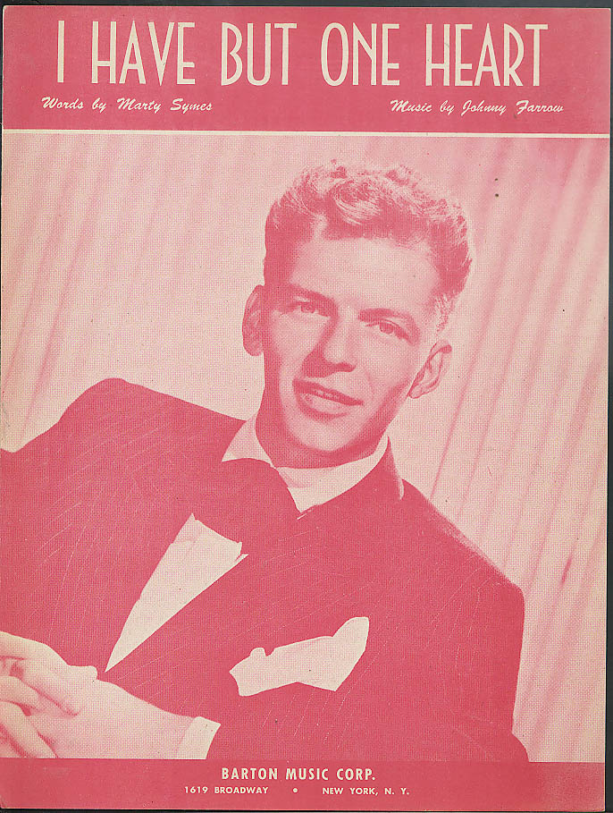 I Have But One Heart Symes & Farrow sheet music 1945 Frank Sinatra