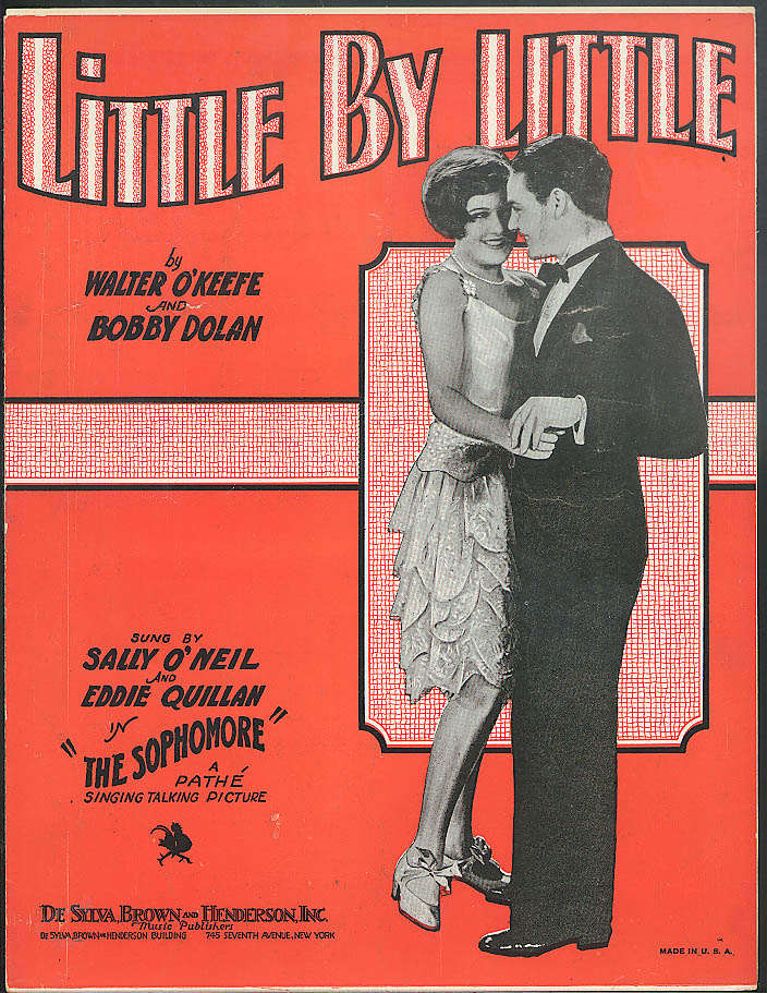 Little By Little sheet music 1929 The Sophomore w/ Sally O'Neil Eddie Quillan