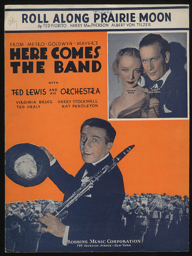 Roll Along Prairie Moon sheet music 1935 from Here Comes the Band