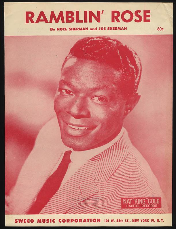 Ramblin' Rose sheet music 1962 Nat King Cole; by Sherman & Sherman