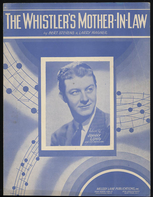 The Whistler's Mother-In-Law sheet music 1941 Johnny Long & Orchestra