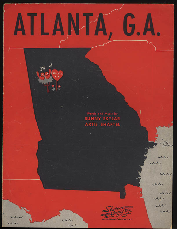 Atlanta G. A. sheet music by Skylar & Shaftel 1945