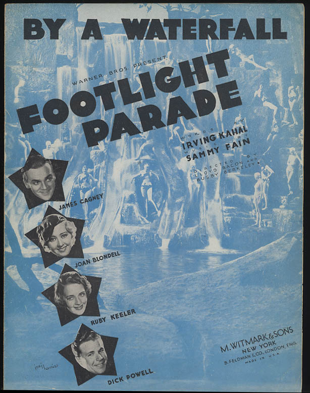 By a Waterfall movie sheet music Footlight Parade Cagney Blondell Keeler 1933