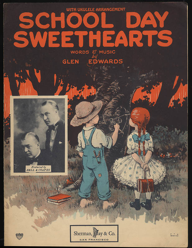 School Day Sweethearts sheet music 1923 P M Griffith cover art
