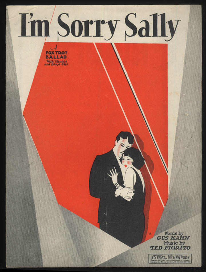 Gus Kahn & Ted Fiorito: I'm Sorry Sally sheet music 1928