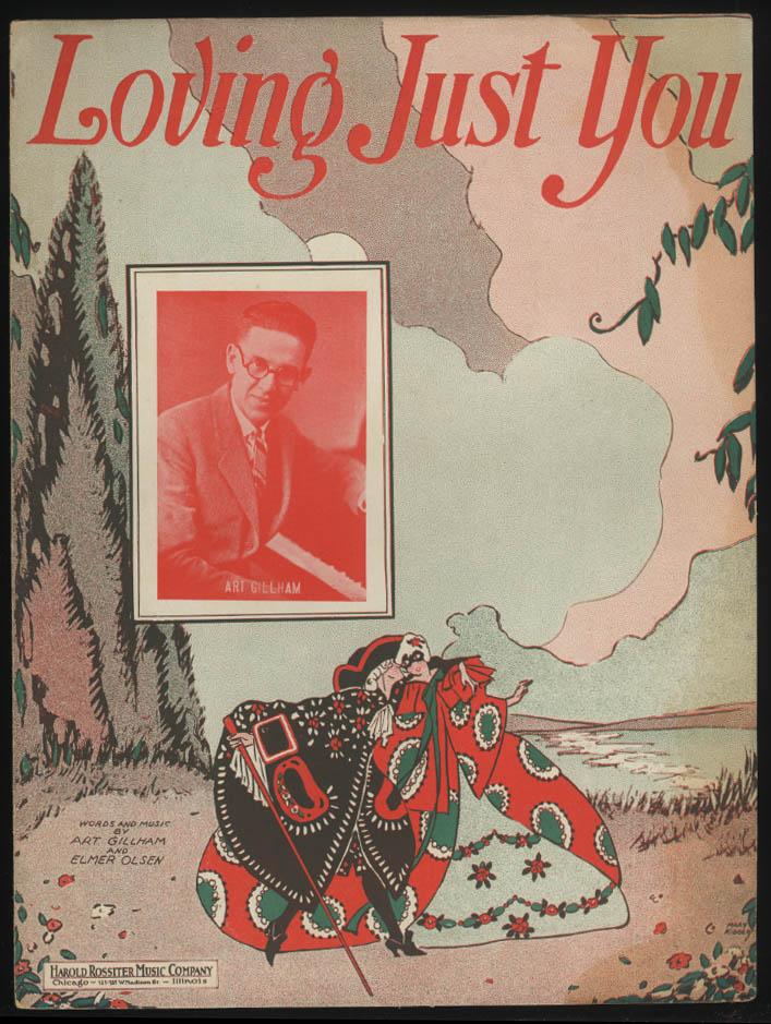 Art Gillham & Elmer Olsen: Loving Just You sheet music 1925 Mary Kidder art