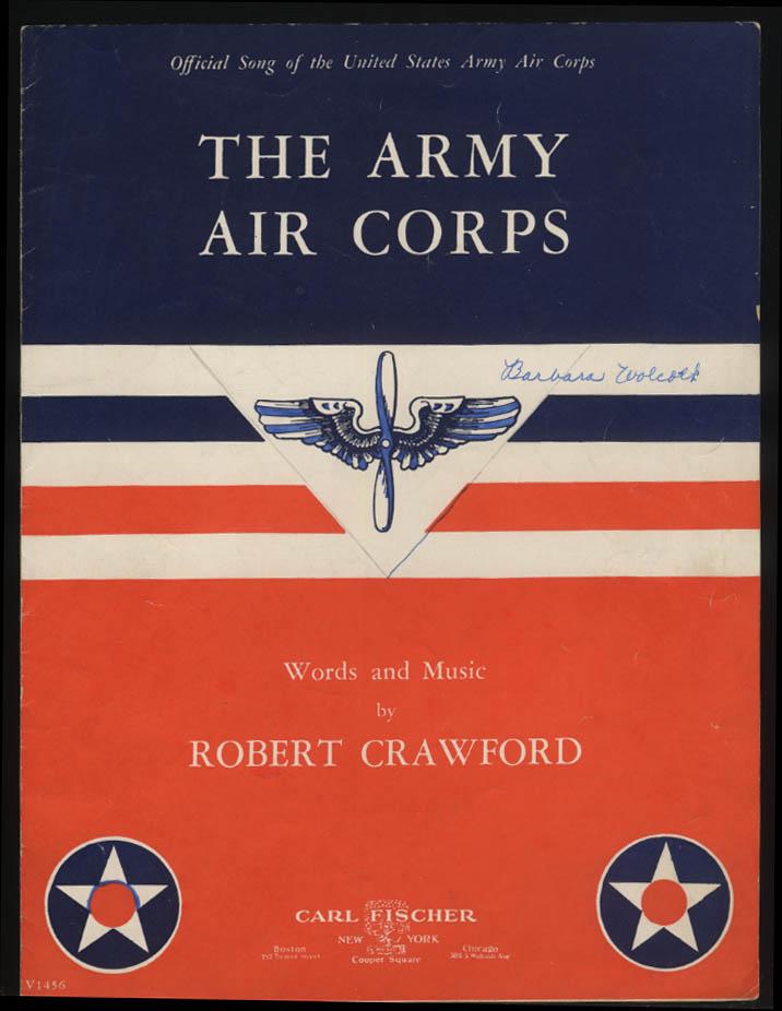 Robert Crawford: The Army Air Corps sheet music 1939 1942