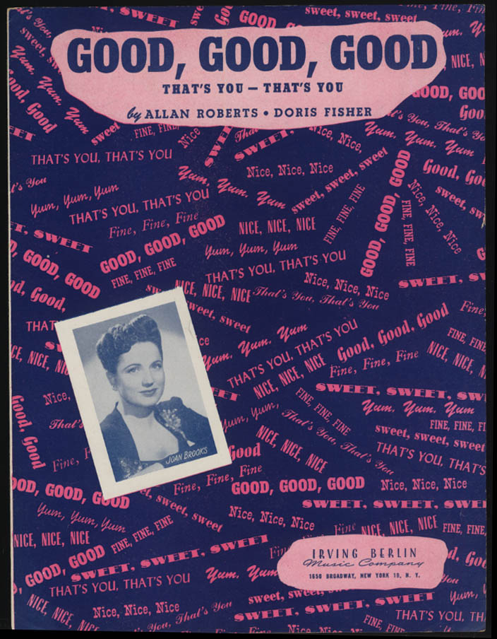 Roberts & Fisher: Good Good Good That's You That's You sheet music 1944