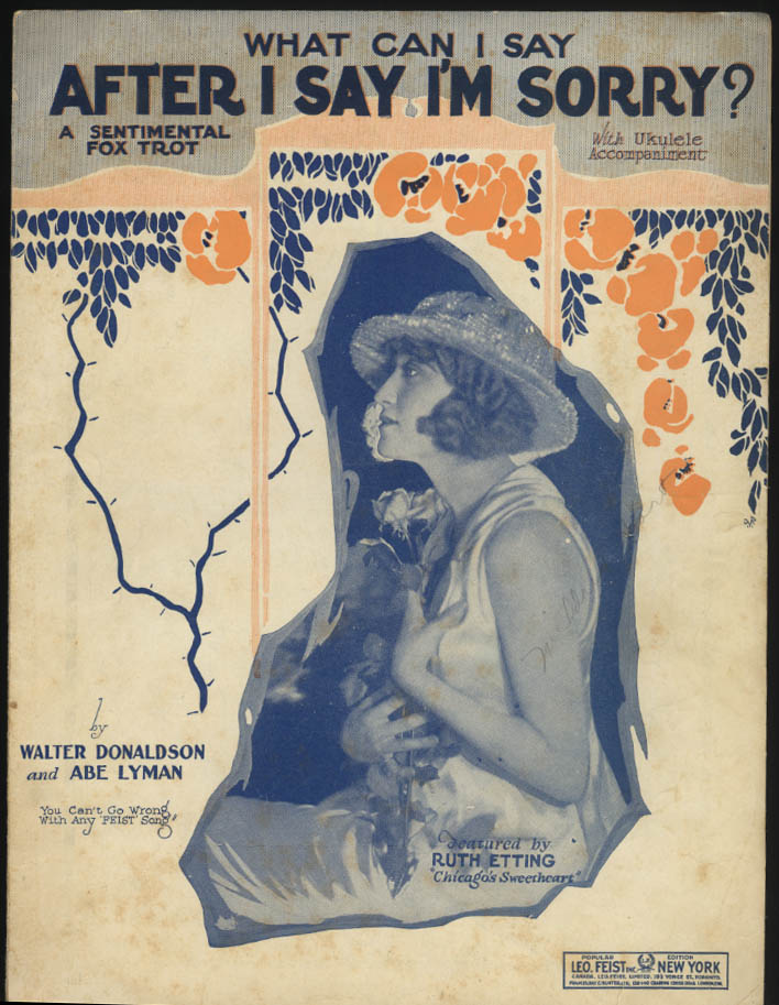 Donaldson & Lyman: What Can I Say After I Say I'm Sorry? sheet music 1926