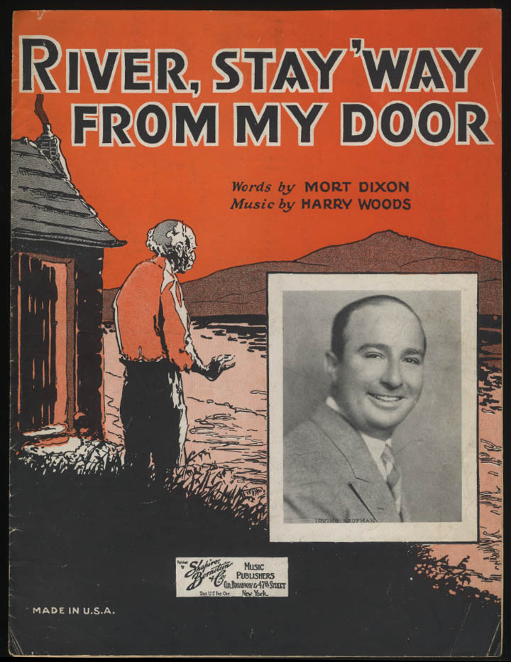 River, Stay 'Way From My Door sheet music 1931 Negro stereotype