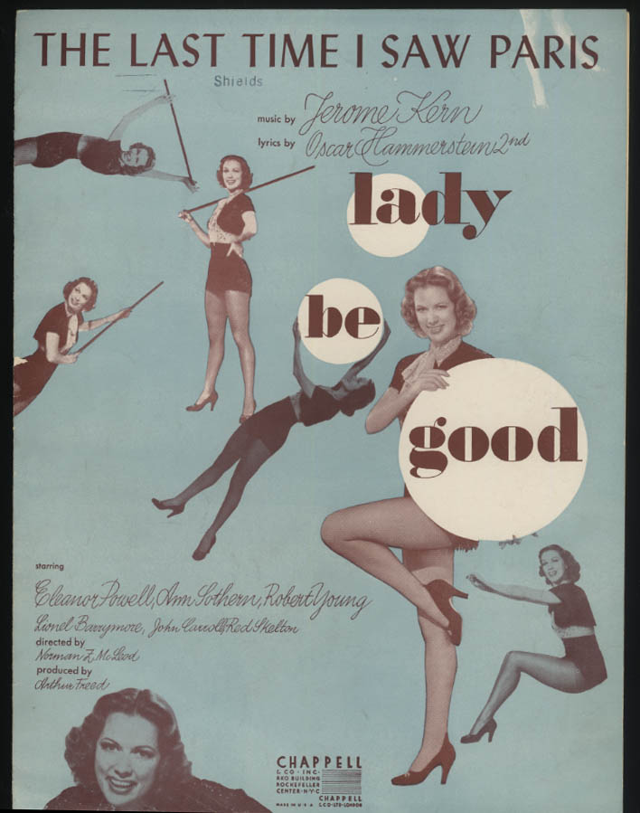 The Last Time I Saw Paris sheet music 1940 from Lady Be Good