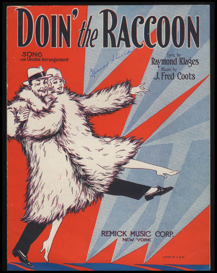 Kloges & Coots: Doin' the Raccoon sheet music 1928