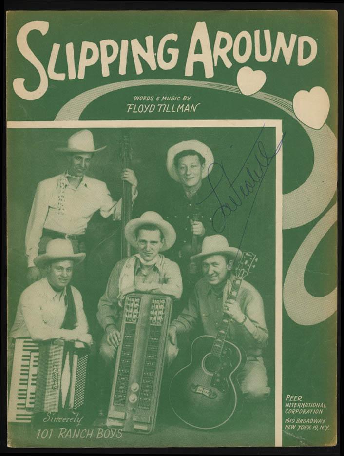 Floyd Tillman: Slipping Around sheet music1949 101 Ranch Boys