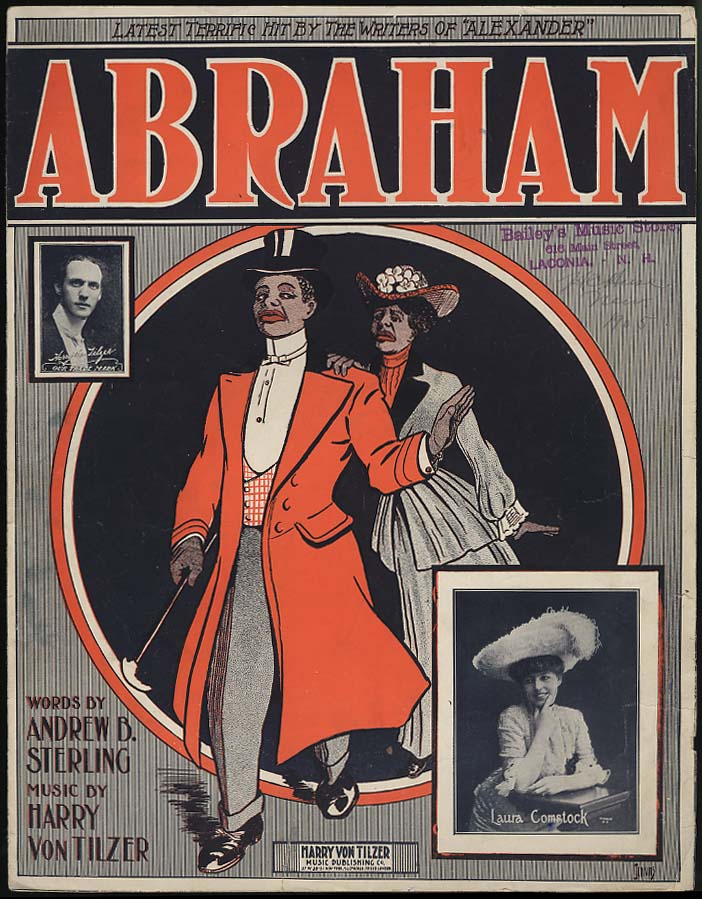 Abraham sheet music by Sterling & Von Tilzer 1904 black stereotype