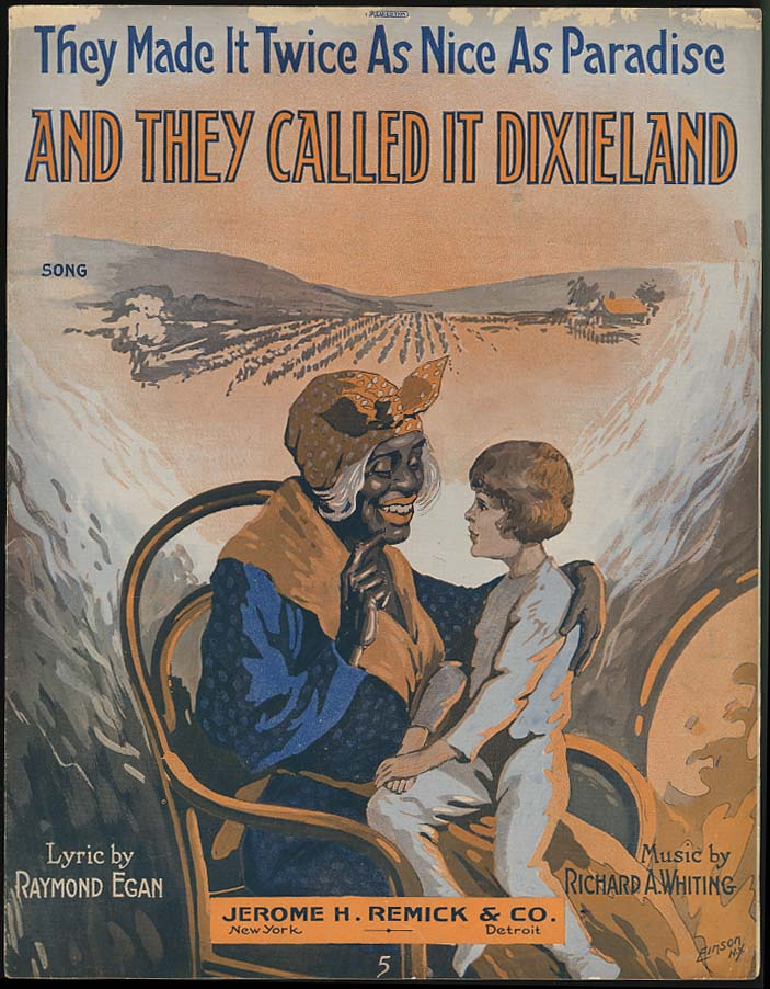 And They Called It Dixieland sheet music 1916 black stereotype
