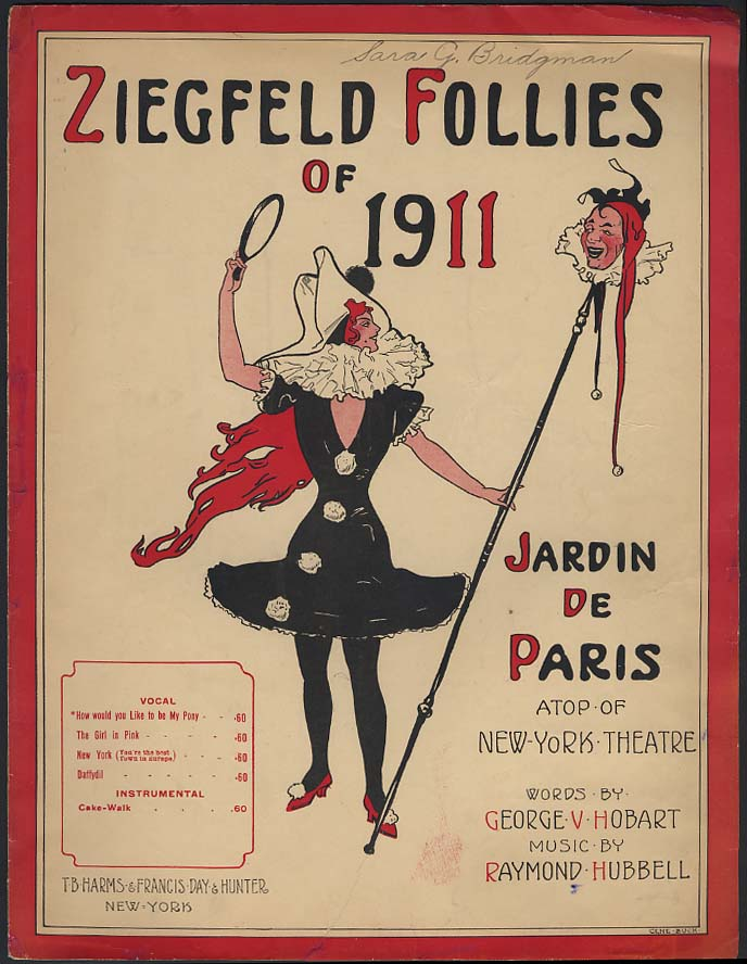 How Would You Like to Be My Pony Zeigfeld Follies sheet music 1911 Buck cover