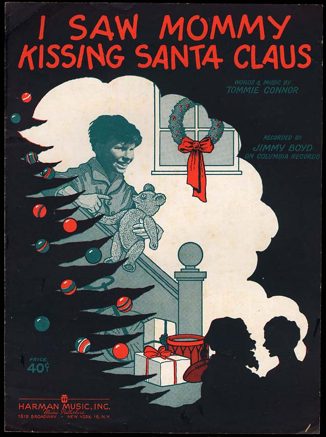 I Saw Mommy Kissing Santa Claus sheet music 1952 by Tommie Connor