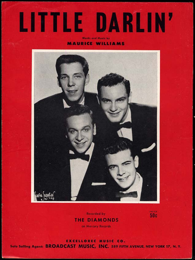 Little Darlin' sheet music by Maurice Williams 1957 recorded by The Diamonds