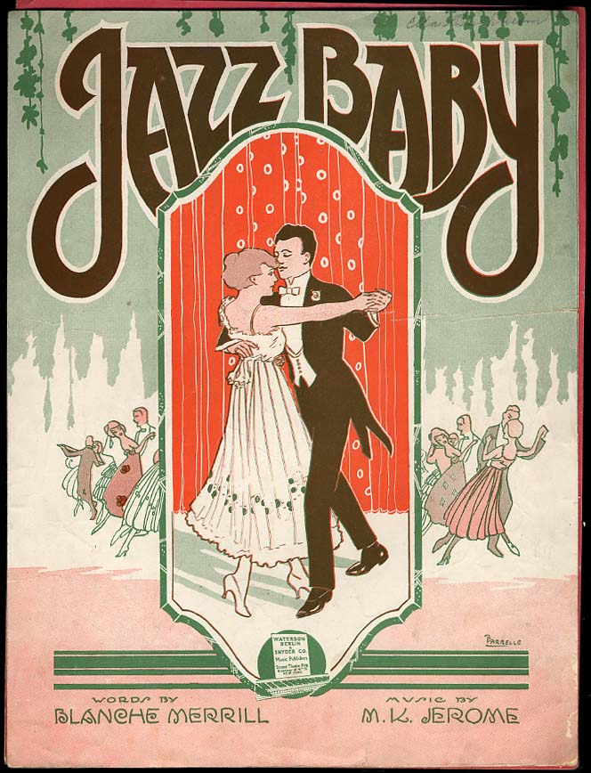 Jazz Baby sheet music by Merrill & Jerome 1919 Barbelle cover