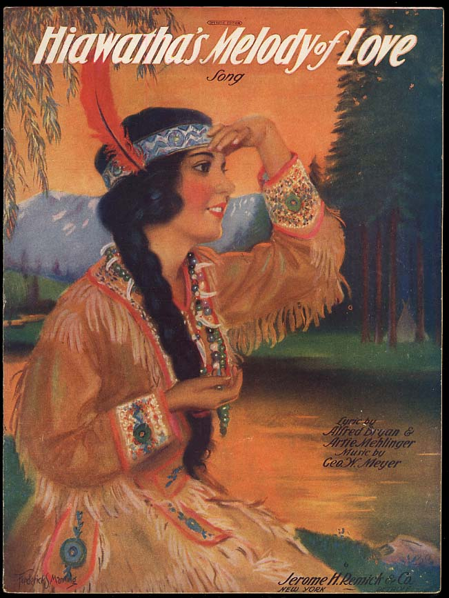 Hiawatha's Melody of Love sheet music 1920 Frederick S Manning cover