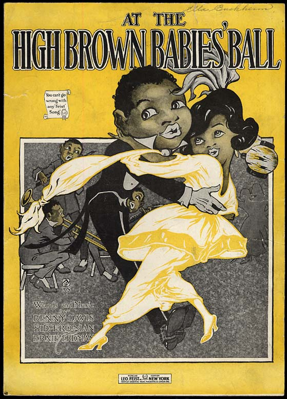 At The High Brown Babies' Ball sheet music 1919 black stereotype