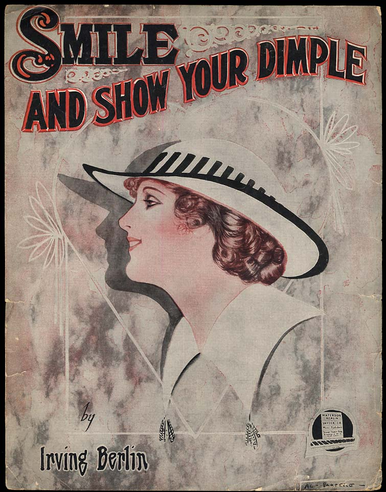 Irving Berlin: Smile And Show Your Dimple sheet music 1917 Barbelle cover
