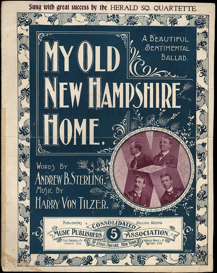 My Old New Hampshire Home sheet music 1898 Herald Square Quartette