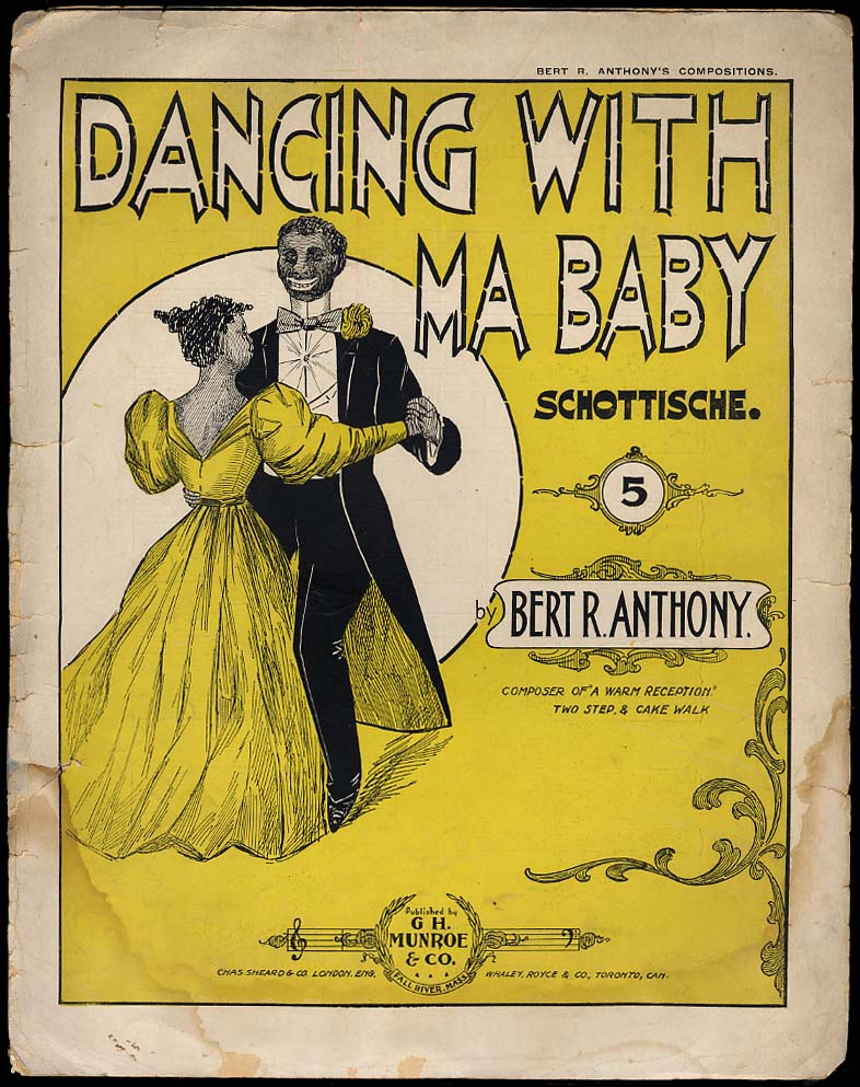 Dancing With Ma Baby sheet music 1899 black stereotype