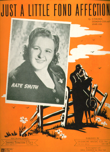 Jusy a Little Fond Affection 1944 Sheet music