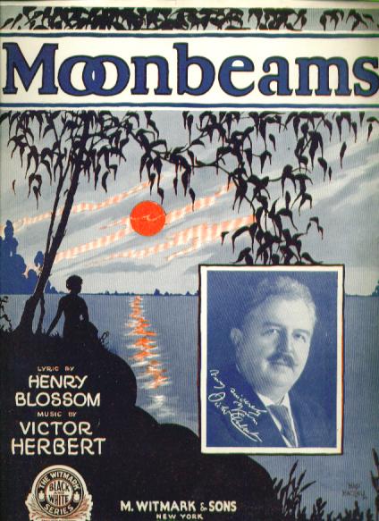 Image for Moonbeams 1928 Sheet music Victor Herbert