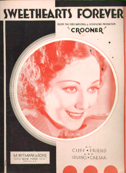 Image for Sweethearts Forever 1932 Sheet music
