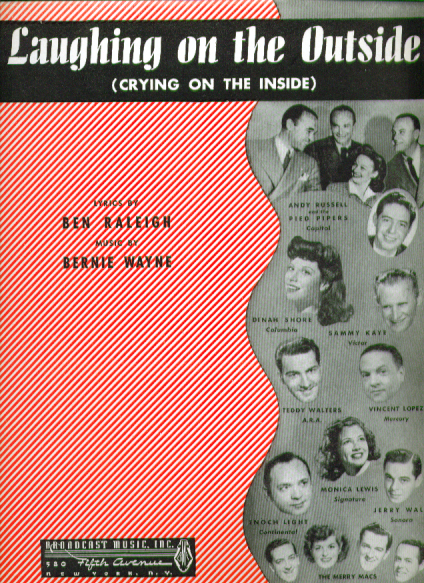 Laughing on the Outside 1946 Sheet music